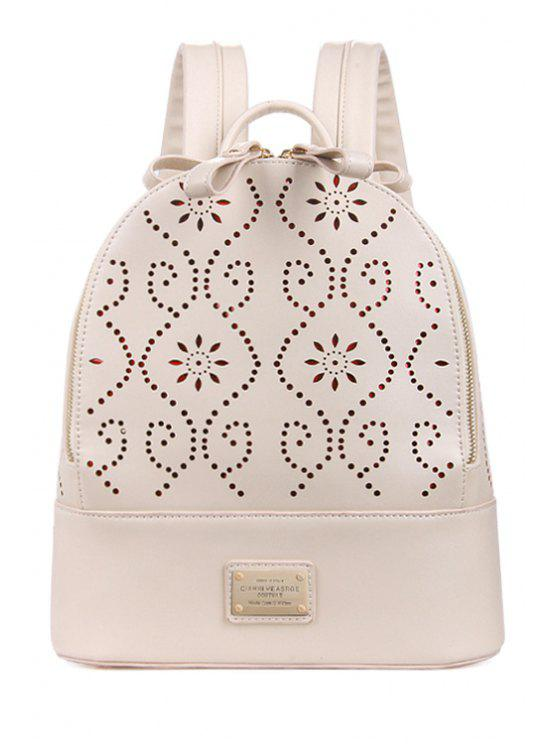 outfits Hollow Out Engraving Rivets Satchel - WHITE