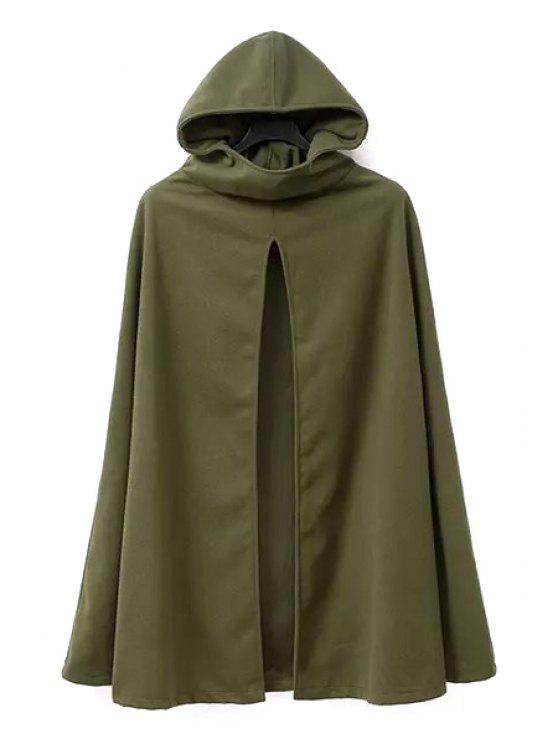 fashion Army Green Hooded Trench Coat - ARMY GREEN S