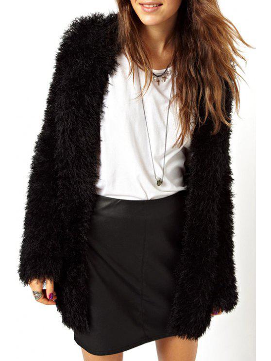 Manteau de flocage avant ouvert - Noir L