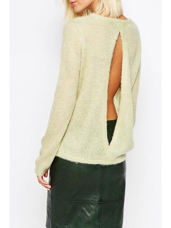buy Hollow Back Apricot Sweater - APRICOT ONE SIZE(FIT SIZE XS TO M)