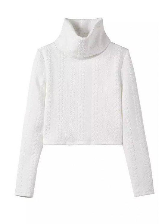 shop White Turtle Neck Long Sleeve Jumper - WHITE XL