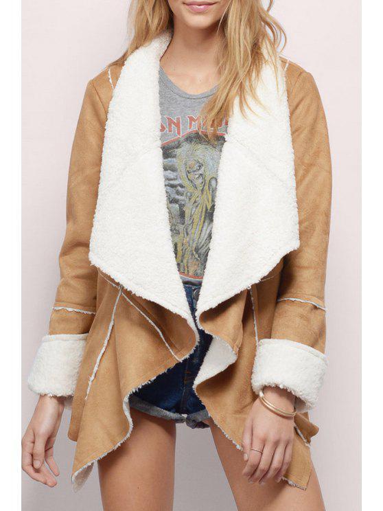 Manteau en laine de daim en laine - Kaki S