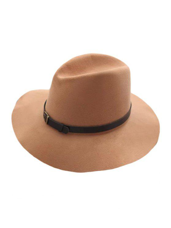 outfits Belt Felt Vintage Hat - LIGHT KHAKI