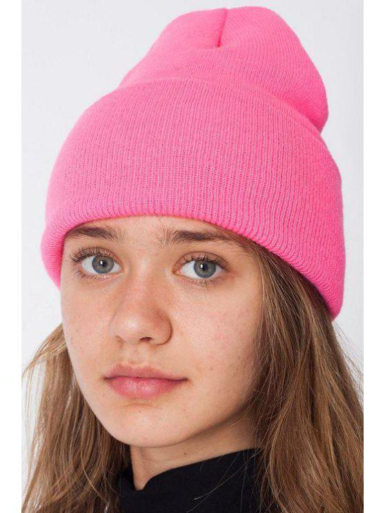 outfit Candy Color Knitted Beanie - PINK