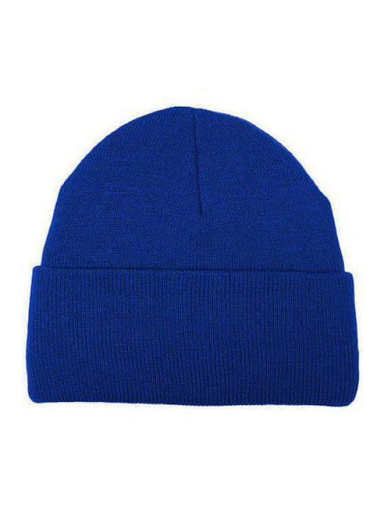 Candy Color Knitted Beanie - Azul