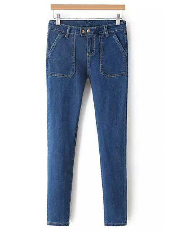 outfits Blue Skinny Jeans - BLUE S