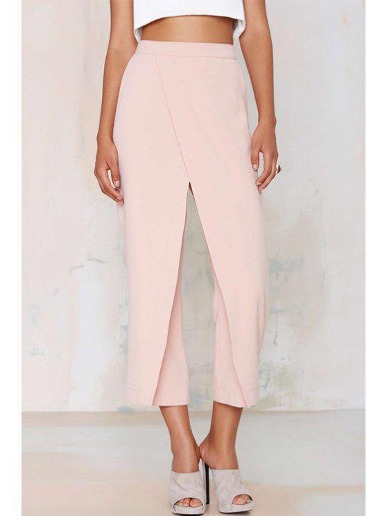 ladies Wide Leg Pink Ninth Pants - PINK XS