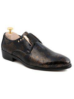 Remaches De Moda Y Los Hombres De Diseño Elástico De Los Zapatos Formales - Dorado 42