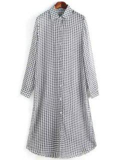 Black White Checked Long Sleeve Shirt - White And Black S