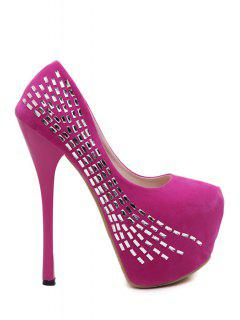 Platform Bling Bling Stiletto Pumps - Rose 38