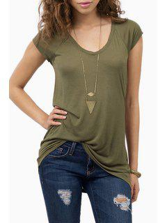 Short Sleeve Army Green T-Shirt - Army Green Xl