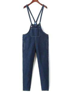 Blue Denim Straps Overalls - Blue M