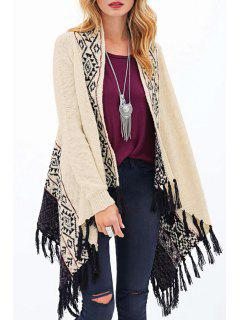 Tassels Long Sleeve Cardigan - Off-white L