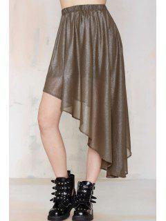 Asymmetric Pleated Skirt - Dun S