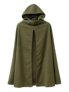 Army Green Hooded Trench Coat - Army Green L