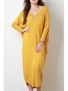 Long Sleeve Baggy Style Dress - Ginger S