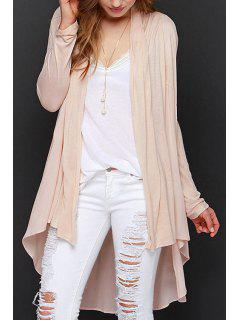 Light Pink Long Sleeve Cardigan - Light Pink 2xl