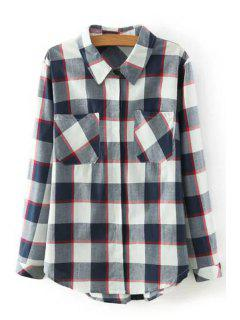 Long Sleeve Checked Shirt - M