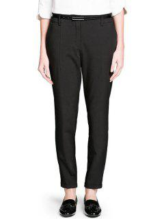 Narrow Feet Ninth Pants With Belt - Black L