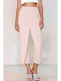 Wide Leg Pink Ninth Pants - Pink Xl