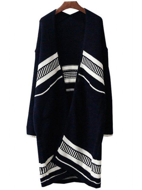 hot Open Front Loose-Fitting Long Cardigan - CADETBLUE ONE SIZE(FIT SIZE XS TO M) Mobile