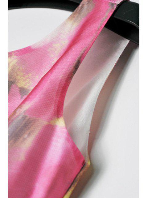 women's Sleeveless Nipped Waist Floral Print Dress - COLORMIX XL Mobile