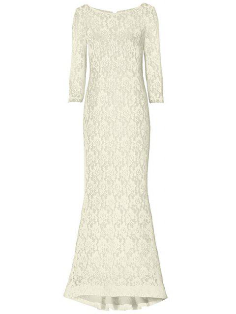 outfits Openwork Lack Hook Fishtail Dress - OFF-WHITE XL Mobile