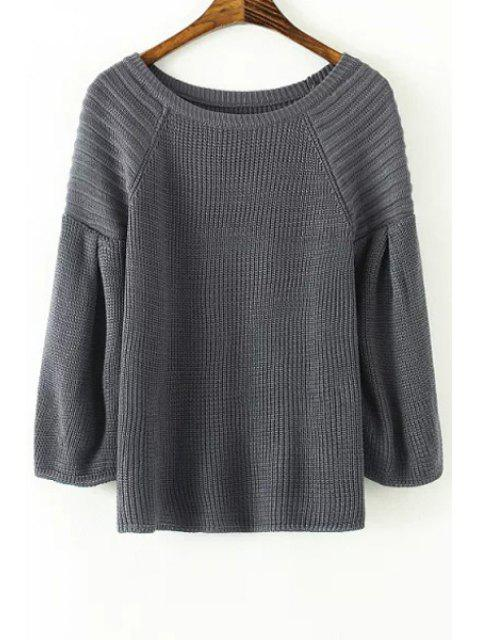shops Lantern Sleeve Loose-Fitting Sweater -   Mobile