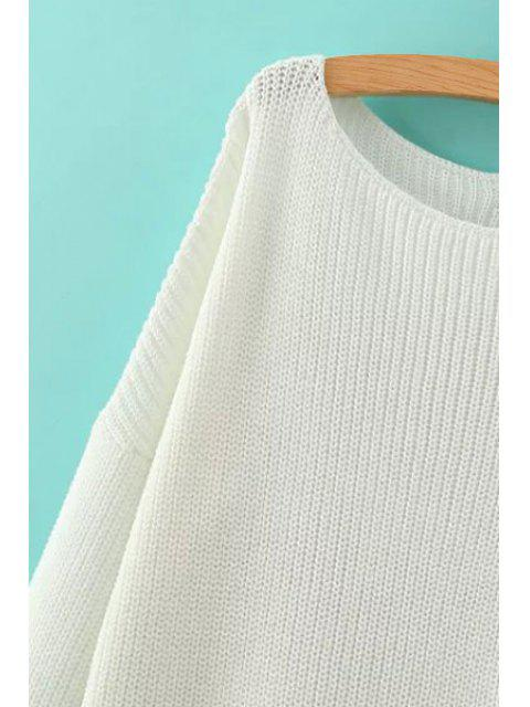 outfit Solid Color Loose-Fitting Jumper - PINK M Mobile