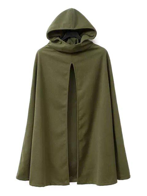 fancy Army Green Hooded Trench Coat - ARMY GREEN M Mobile