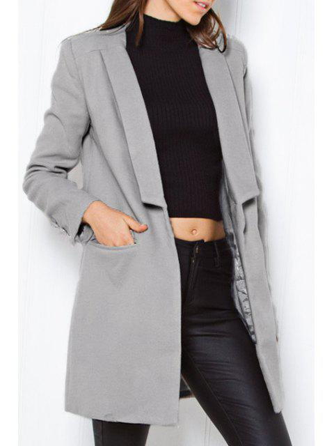 Manteau en mousse Worsted - gris S Mobile