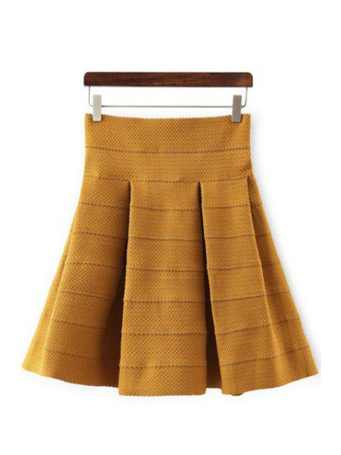 womens High-Waisted Ruffled Knitted Skirt - GINGER M Mobile