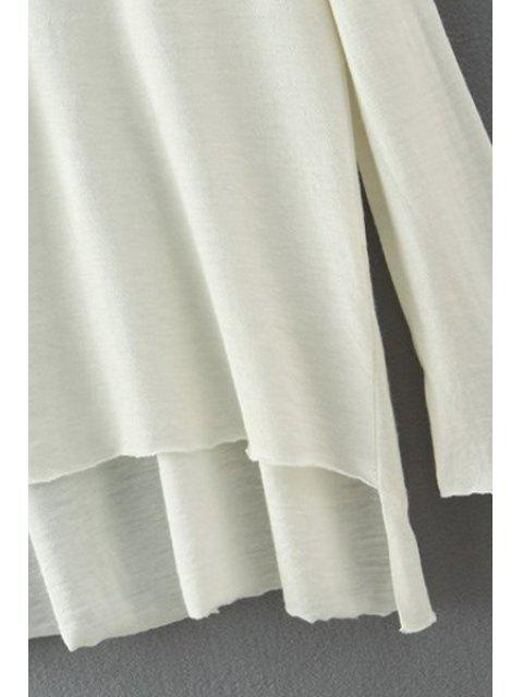 best Solid Color High Low Hem T-Shirt - GRAY S Mobile