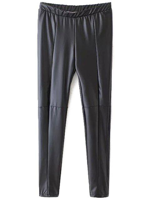 Cuir PU Cuir étroit Pantalons noirs - Noir L Mobile
