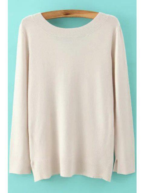 Suéter de manga larga de espalda baja - Blancuzco S Mobile
