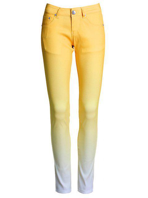 Pantalons Coniques femme à couleur changeante - Jaune L Mobile