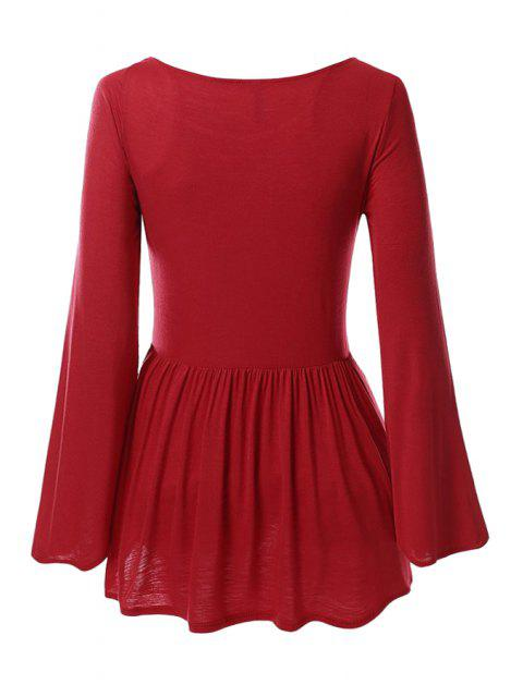 T-shirt à base de poil à la main - Rouge XL Mobile
