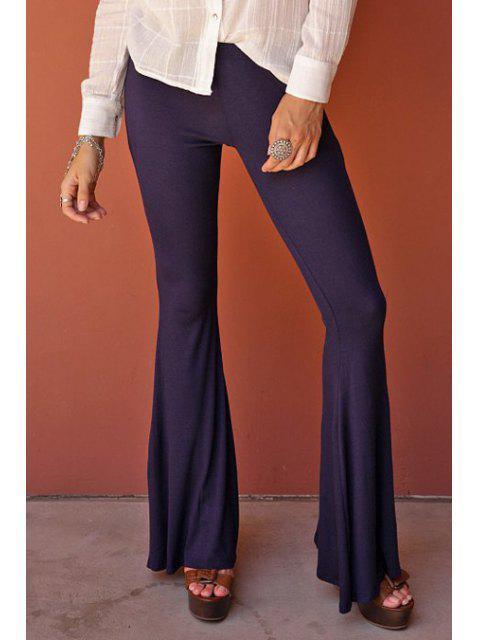 fancy Flare Solid Color Pants -   Mobile