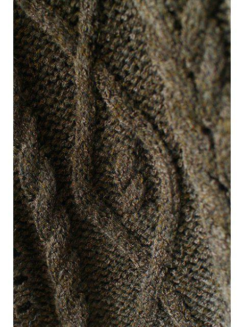 best Cable Knit Single-Breasted Cardigan - LIGHT GRAY ONE SIZE(FIT SIZE XS TO M) Mobile