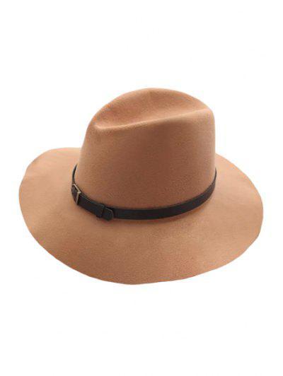 Belt Felt Vintage Hat - Light Khaki