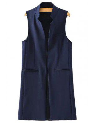 Stand Neck Pure Color Waistcoat