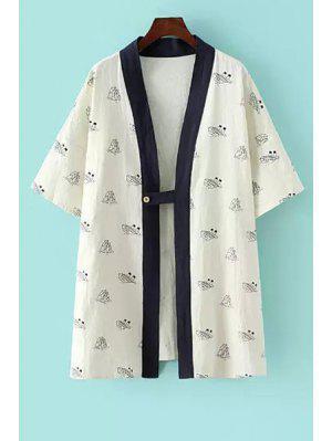 Kimono En Demi-manches - Blanc