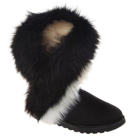 Color Block Faux Fur Snow Boots 147904809