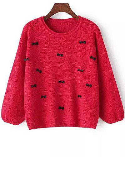 Bowknot Embellished Sweater