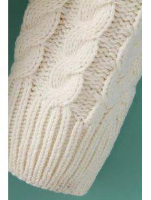 538cf79a96 33% OFF  2019 Cable Knit Lace Spliced Sweater Dress In OFF-WHITE