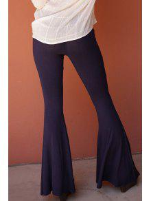 29953c1e1f7 2019 Flare Solid Color Pants In DEEP PURPLE S