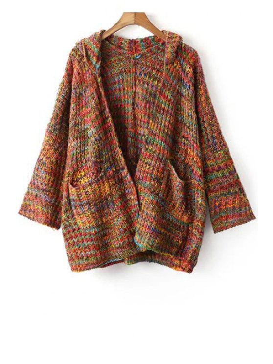 outfit Hooded Mixed Color Cardigan - COLORFUL ONE SIZE(FIT SIZE XS TO M)