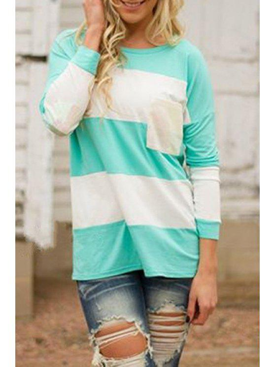 outfit Blue and White Long Sleeve T-Shirt - BLUE AND WHITE S