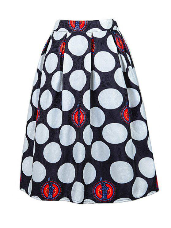 womens Polka Dot Jacquard Skirt - WHITE ONE SIZE(FIT SIZE XS TO M)