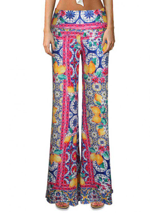 chic Ethnic Colorful Bell Bottoms - COLORMIX S